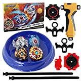 158-10-Bey Burst Starter 4 in 1 Battling Top Fusion Metal Master Rapidity Fight with 4D Launcher Grip Set