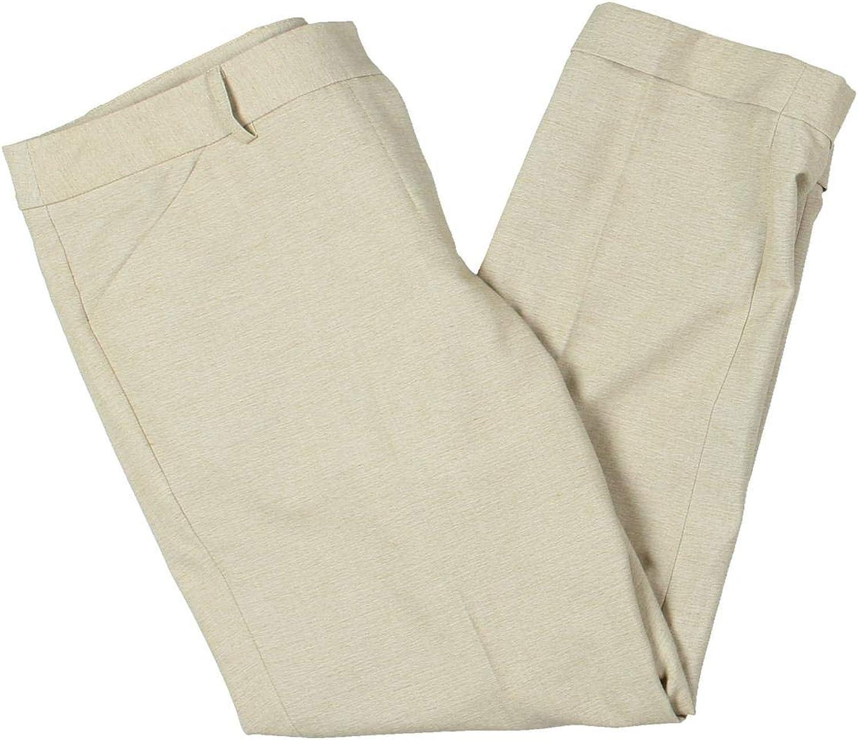 Tahari ASL Womens Petites Shannon Office Wear Work Dress Pants Beige 10P