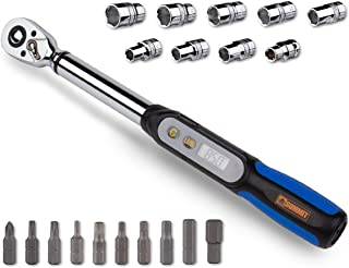 Summit Tools 3/8 inch Digital Torque Wrench 2.2-62.7 ft-lbs Torque Range, Socket Set, Measure Peak Torque, Calibrated (DPS3-085CN-S) (Renewed)