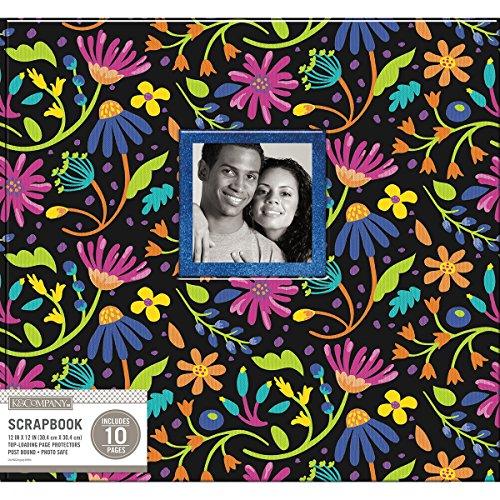 K & Company K&Co Scrapbook 12x12 Window Black Floral