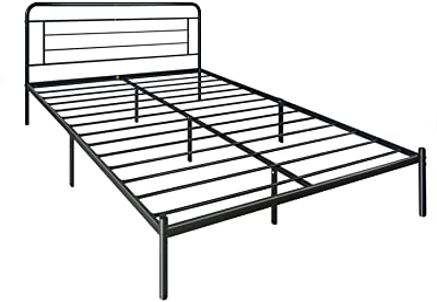 Amazon Basics Modern Studio 14-Inch Platform 1500H Metal Bed Frame, King