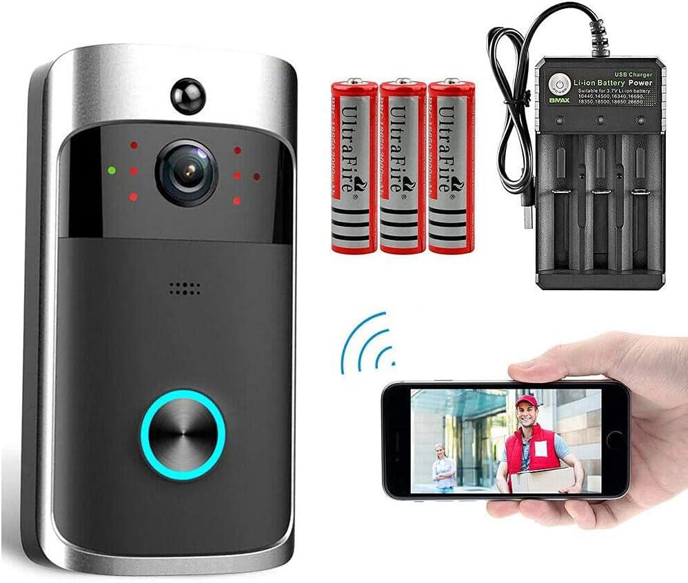 Whizzotech Wireless WiFi Video Doorbell 蔵 HD Smart 限定特価 Ring 166 Door