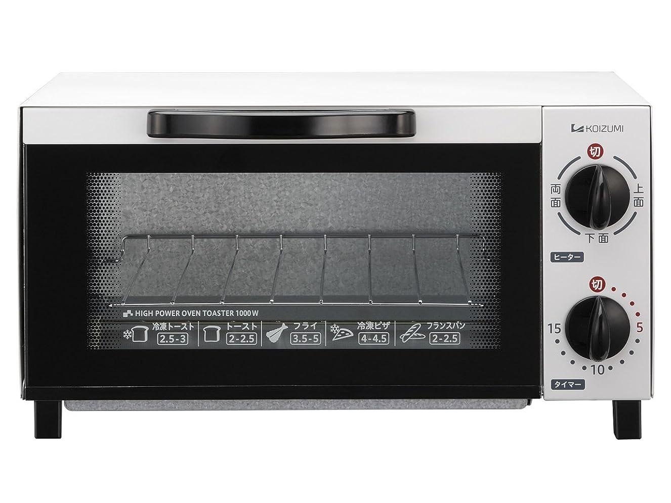 商業の静けさ白内障コイズミ オーブントースター ホワイト KOS-1012/W