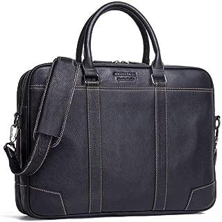 SGJFZD Men's Business Briefcase Casual Handbag Leather Shoulder Bag (Color : Black, Size : L)