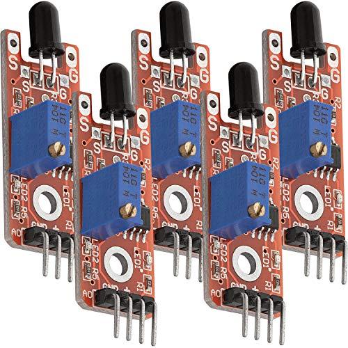 AZDelivery 5 x KY-026 Flame Sensor Módulo Detector de Incendios con E-Book incluido!