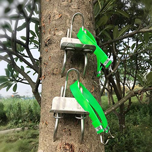Arbre Climbing Tool Pole Climbing Spikes Chaussures Non-Slip Five Claws Arbres artificiels pour grimper en acier inoxydable 304 Simple à utiliser pour la chasse Observation Guêpe cueillant des fruits