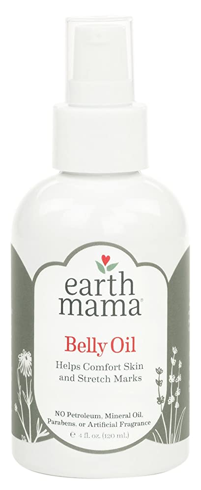 Belly Oil by Earth Mama | To Safely Moisturize and Promote Skin's Natural Elasticity During Pregnancy and to Ease the Appearance of Stretch Marks, 4-Fluid Ounce