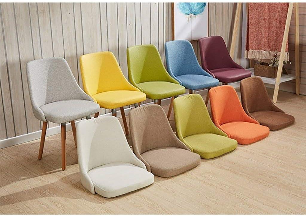 TYUIO Chaise Nordique étude Minimaliste Moderne Ordinateur Chaise Maison Tabouret Retour Adulte en Tissu dinant la Chaise (Color : C) D