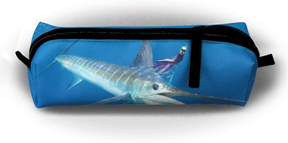 Ranking TOP2 Dallas Mall Sea Striped Marlin Fish Pen Pencil Bag Makeup Case Stationery Tr