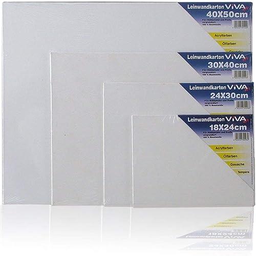 3 Malpappen 3 mm stark Leinwand weiß 280 g//m ideal für Pouring etc