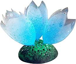 MJuan-clothing,Aquarium Artificial Grass Aquarium Accessories, Silicone Glow Artificial Fish Tank Aquarium Coral Bubble Plant Ornament Decor - Blue