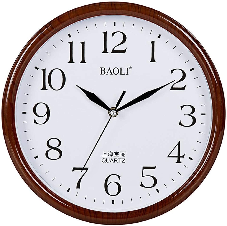 J.BZ Reloj de Parojo Reloj de Parojo de 12 Pulgadas Reloj Decorativo Reloj Mute Reloj de Parojo Sin tictac Estilo nórdico Salón Reloj Estilo de Arte