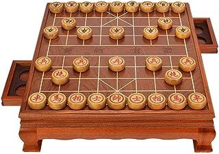 YUHT Juego de ajedrez Chino Mesa de Tablero de Madera Maciza Piezas de ajedrez de sándalo Dorado Juego de Mesa de Entretenimiento de Ocio URG Mesa de futbolín: Amazon.es: Deportes y aire
