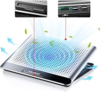 "Aluminum Alloy Laptop Cooler Stand, 11""-18"" Ultra Slim Quiet Notebook Radiator Portable Laptop PC Computer Cooling Pad Lar..."