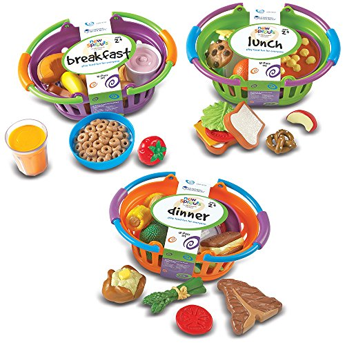 Learning Resources New Sprouts Bundle of Breakfast, Lunch and Dinner, 3 Sets, Ages 2+,Multi,8-1/2 L x 7 W x 4 H in