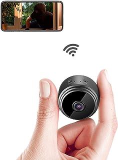 Mini IP-camera,.wifi, ultracompact, draadloos, 1080P, met bewegingsdetectie, nachtzicht, oppas, baby, huisdier, voor iPhon...