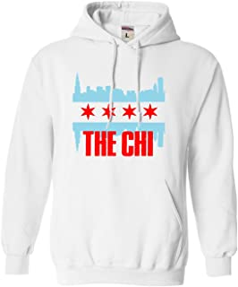 Adult The Chi Chicago Skyline Flag Sweatshirt Hoodie