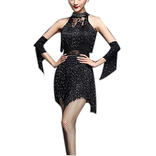 Whitewed Fringe Great Gatsby Tango Dance Theme Woman Dress Outfits for  Adults 858f4d647
