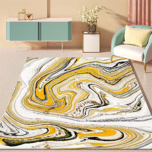 WQ-BBB Higroscópico La Alfombrae Ondulación Simple Abstracto Alfombra De Diseño Moderna Negro Blanco marrón Amarillo Ocio sin desvanecimiento SalaDeEstar La Alfombraes80X160cm