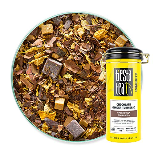 Tiesta Tea - Chocolate Ginger Turmeric, Spiced Cocoa Rooibos Tea, 5 Ounce Tin