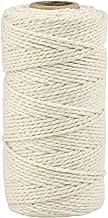 JJSJ Macrame koord 3 mm x 100 m Macramé touw katoen, handgemaakt natuurlijk katoenen koord macramé touwtje voor wandopknop...