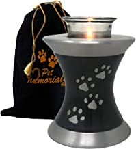 Memorials4u Paws to Heaven Tealight Pet Urn - Keepsake Urn for Ashes - Small Size - NOT Intended for Full Cremation Ash Quantity Slate