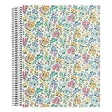 Erin Condren Meadows Notizbuch, 5 mm, Spiralbindung, 160 perforierte Seiten, 21,6 x 27,9 cm, für Listen, Bulleting, Charting mit austauschbarem Einband, dickes Papier, funktionelle Aufkleber