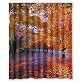 RELAX Shower curtain Superbe Rideau de Douche imperméable en érable Rouge 152 x 183 cm