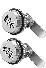 2 Stks Zinklegering 3-cijferige Code Combinatie Cam Lock, Zilver Verdikte Lade Deurkast Mailbox Cam Sloten Beveiliging Wac...