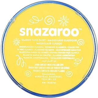 Snazaroo Classic Face Paint, Bright Yellow, 18ml, Medium