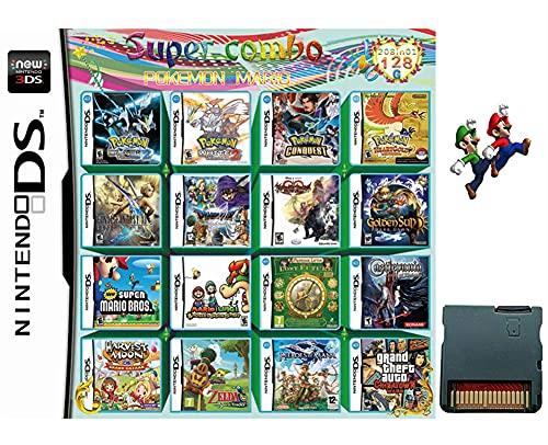 208 in 1 Game CartridgeNintendo DS Games CardCompatible with Super ComboNDSLNDSiNDSi LL/XL3DS3DSLL/XLNew 3DSNew 3DS LL/XL2DSNew 2DS LL/XL
