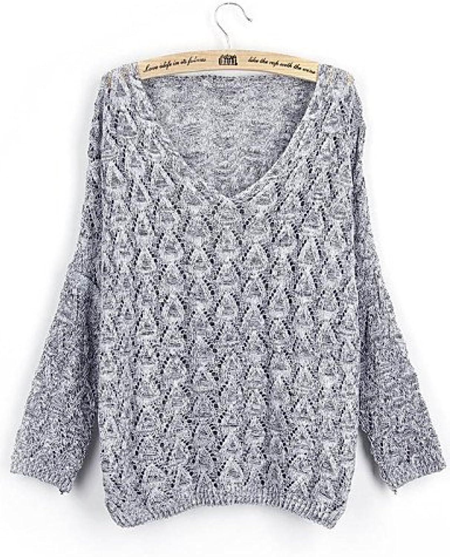DSDFSDSAF MYY Damen Fashion Casual Hohl Out lose Batwing Kaschmir Pullover Knit Pullover, Wine-one-Größe, Wine-one-Größe B01KO89BRA  Bekannt für seine gute Qualität