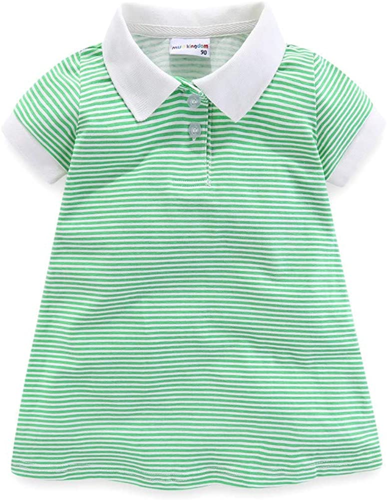 Mud Kingdom Little Girls Polo Dresses Short Down Collar Gifts Gifts Sle Turn