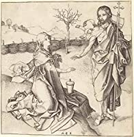 Martin Schongauer ジクレー 紙に印刷-有名な絵画 美術品 ポスター-再生 壁の装飾(マグダラのマリアに現れるキリスト) #XZZ