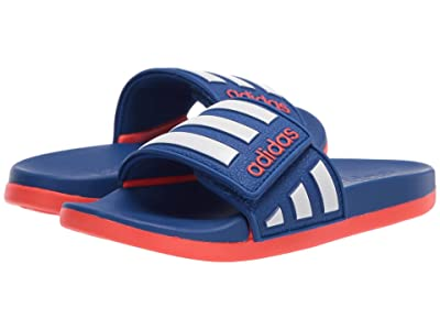 adidas Kids Adilette Comfort ADJ (Toddler/Little Kid/Big Kid) (Team Royal/White/Solar Red) Kid