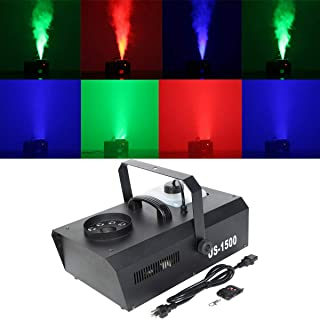 TC-Home 9 LED 3in1 RGB Stage Fog Machine DMX Smoke Machine 2L 1500W Vertical Spray for Party Show Disco