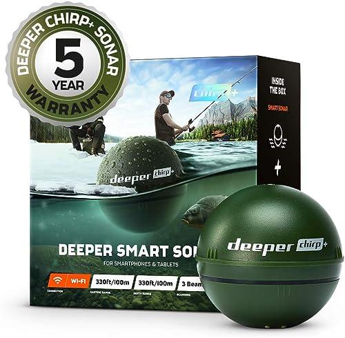 Sonda inteligente Deeper CHIRP + más profunda: portátil, portátil, GPS Fish Finder y buscador de profundidad, en tier...
