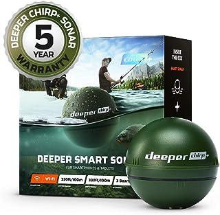 Sonda inteligente Deeper CHIRP + más profunda: portátil, portátil, GPS Fish Finder y buscador de profundidad, en tierra o ...