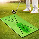 BNT Golf Training Mat, Swing Detection Batting, 23.6in x 11.4in, Analysis & Correct Your Swing Path, Mini Golf Practice Training Aid Rug, for Home/Office/Outdoor
