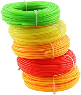 5 Pcs Nylon Trimmer Line Rope Roll for Most Petrol Strimmers Machine Replacement Parts Garden Tools 15m x 2.4mm (Random Color)