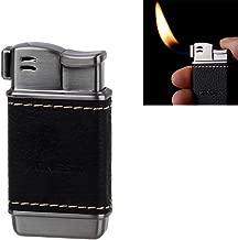 Honest Tobacco Pipe Lighter – Genuine Leather Soft Flame Refillable Butane Lighters for Men