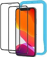[附边框] [2张装] Nimaso iPhone XR 全面保护膜 钢化玻璃 [全覆盖] 保护膜 硬度9H/高透光率 (iPhoneXR用膜)
