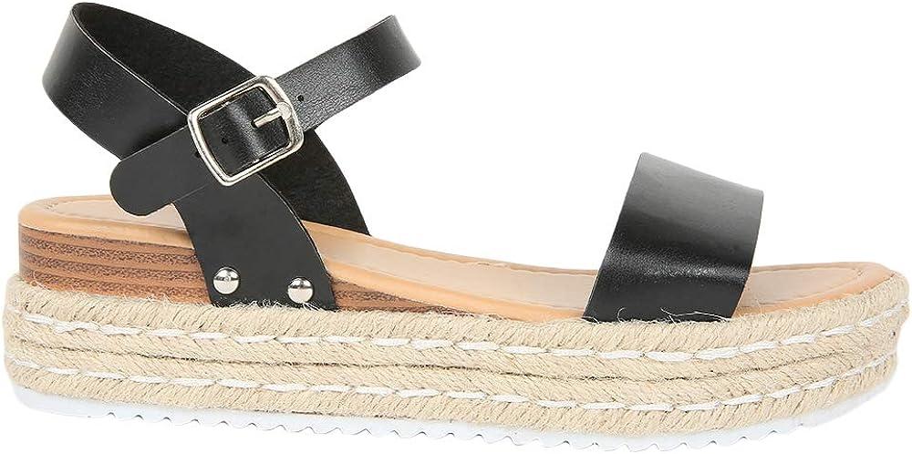 Syktkmx Womens gift Platform Wedge Sandals Open Ank Cork Toe Heel Max 87% OFF Low