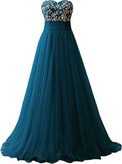 Strapless Long Prom Dresses Ball Gown Quinceanera Dress Gown Tulle