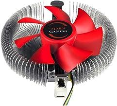 Mars Gaming MCPU1 - Disipador gaming para ordenador (ventilador 92mm, tecnología PWM, para cajas compactas, 56 láminas aluminio) color rojo y plateado