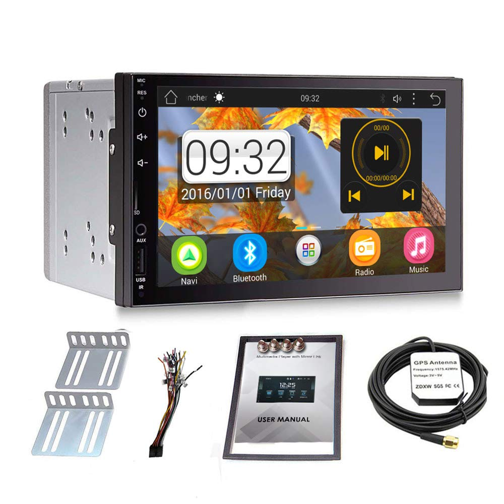 Upgraded Android 7 1 QuadCore CPU 7 Inch Touch Screen Double