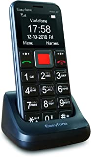 Arabic Keyboard - Easyfone Prime-A5 Big Button Senior Mobile phone, Easy-to-Use Basic Mobile phone for Elderly with Charging Dock (A5 Black)