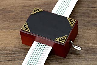 Biscount 15 Notes Wooden Music box Musical Toy DIY Make Yr Own Song Include a Punch, 20 Blank Paper and 16 music Paper Best Gift