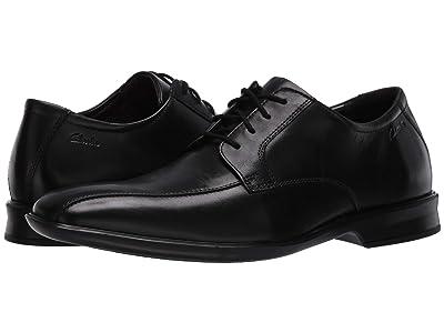 Clarks Bensley Run (Black Leather) Men