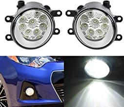 Ricoy Pair Set Fog Light Lamps with H11 LED Bulbs For Lexus IS GS ES CT LX RX Toyota Camry Highlander Corolla Tacoma Metrix Yaris Prius Scion Sienna Highlander